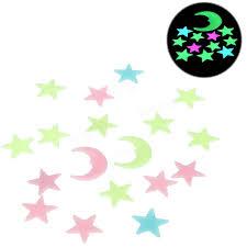 18pcs plastic glowing in the dark moon stars stickers wall art 18pcs plastic glowing in the dark moon stars stickers wall art home party diy decor wall