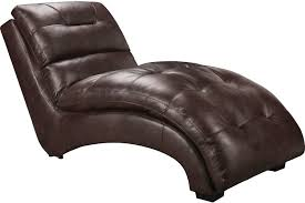 charlie faux leather curved chaise brown living room furniture