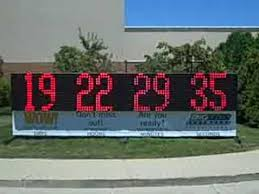 large outdoor led sign football countdown clock