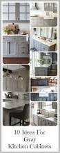 Kitchen Cabinets Colors And Designs 30 Gray And White Kitchen Ideas Gray Cabinets White Granite And