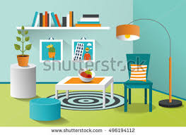 minimalism design interior living room modern minimalism design stock vector