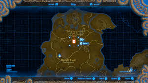 Map Of Hyrule Fundorte Der 13 Erinnerungsfotos In The Legend Of Zelda Breath Of