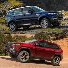 jeep cherokee trailhawk red range rover sport vs jeep cherokee trailhawk gear patrol