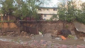 backyard washed away in flood waters
