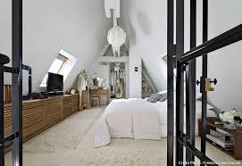 chambre toute loft sous toit mezzanine vitrage atelier chambre toute blanche