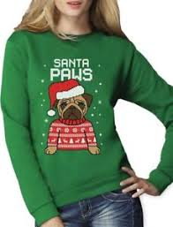pug sweater santa paws pug sweater sweatshirt gift ebay