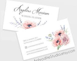 wedding planner business watercolor business card template digital watercolor