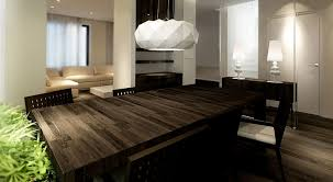 dark wood dining table interior design ideas