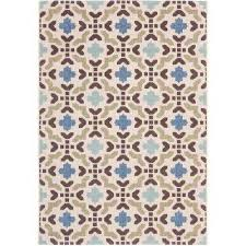 Veranda Living Indoor Outdoor Rug Cream Outdoor Rugs Rugs The Home Depot