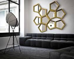 livingroom mirrors ideas geometric mirrors