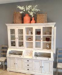 antique dining room hutch image of antique white kitchen hutch large dining table wooden and