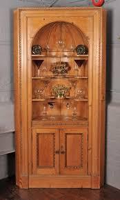 edwardian period early 20th century pine corner cupboard u2014 john