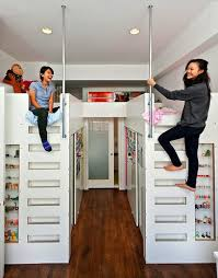 Bunk Bed With Storage Very Cool Bunk Beds Storage Smart Small Bedrooms For 2 Boys