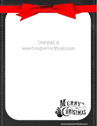 template for santa letter 487 free christmas borders and frames