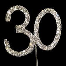 30 cake topper sparkly diamante cake topper number zero 0 silver co