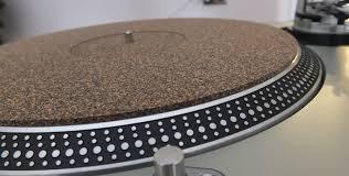 platter mat analogue studio cork rubber turntable mat analogue studio