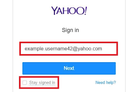Yahoo Sign In Yahoo Login Page Yahoo Login Screen Yahoo Sign In