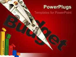 Template For Budgeting Money Powerpoint Template Financial Chart With Pen Calculator Finance