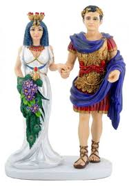Halloween Wedding Cake Toppers Marc Anthony And Cleopatra Wedding Cake Topper Wedding Collectibles