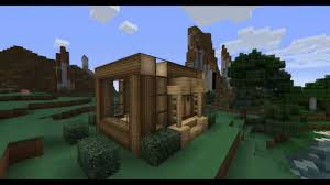 minecraft modern wooden cottage youtube