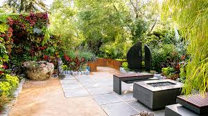 ideas for a tropical garden sunset