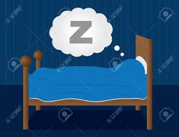 sleeping in a dark blue room royalty free cliparts vectors and