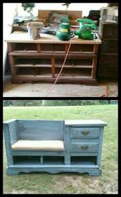 Turning Dresser Into Bookshelf Old Dresser Remade Into A Mudroom Shoe Bench What And Awesome