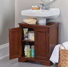 weatherby bathroom pedestal sink storage cabinet walnut