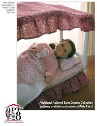 aptone8 curved canopy bed pattern 18 inch dolls such as american