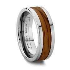 mens wooden wedding bands mens tungsten zebra wooden wedding band