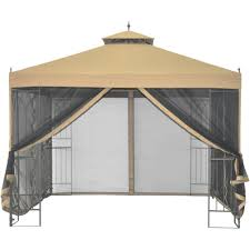 Outdoor Gazebo With Curtains by Gazebo Stripe Indoor Outdoor Curtain Panels Grommet Panel Loversiq