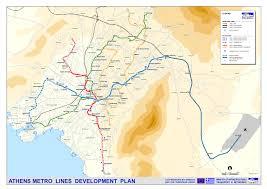 Metro Orange Line Map by Athens Metro Map Greece