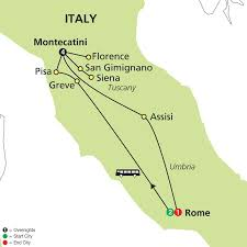 Italy On Map by Cosmos Tours Leisurely Tuscany U0026 Rome 2016