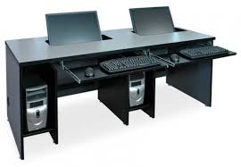 Computer Desk For Two Computers Flat Panel Lcd Widescreen Computer Desks Classroom For Stylish