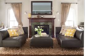 tiled fireplaces living room traditional with beige shag rug