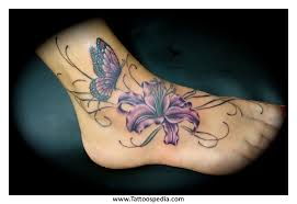 flowers with small butterfly on