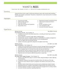 exle of a resume summary creative delivery driver resume sle driver resumes