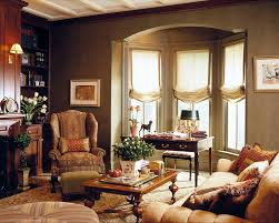 Traditional Accent Chair Window Treatments For Bay Windows Living Room Traditional With