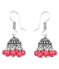 jhumki earring waama jewels jhumki earring silver plated college wear oxidised