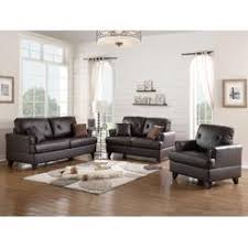 abbyson living kensington leather sofa set 3 piece