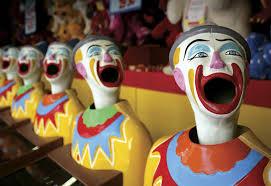 ugh clown says gross things to fair goer