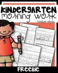 a freebie of my kindergarten morning work pack when you download