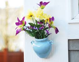 Wall Mounted Flower Pot Holder Beautiful Metal Planters For Wall Decoration Strong And Stable