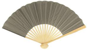 decorative fans 9 gray grey silk fans for weddings 10 pack on sale now