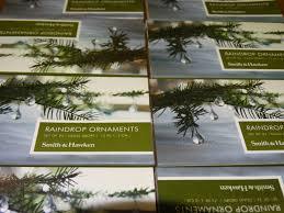 raindrop ornaments set of 24 glass wire ornament