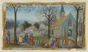 villagers on their way to church getty museum