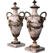 marble urns antique louis xvi gilt bronze marble urns vases with