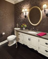 chicago wallpaper installation powder room traditional with