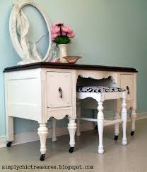 Simply Shabby Chic Vanity by Simply Chic Treasures Shabby Chic White Vanity Makeover