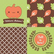 themed posters set of fall inspired patterns and posters collection of 2 vector
